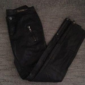BlankNYC faux leather moto ankle zip pants 26